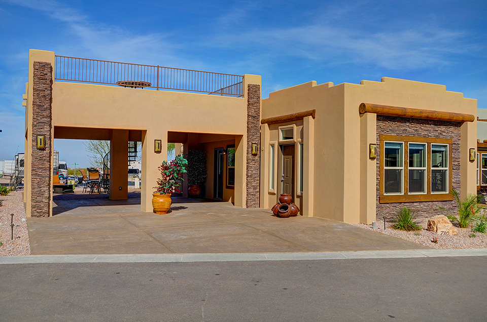Superstition views rv resort in gold canyon az for 55 for Santa fe style manufactured homes