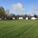 Gettysburg Estates, an all age manufactured home community, has large green grassy area.