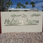 Holiday Palms entrance sign