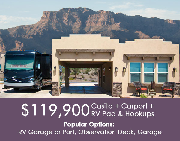 Superstition Views Rv Resort In Gold Canyon Az For 55