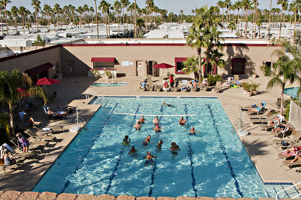 Towerpoint resort in mesa az for 55 park model homes for Pools in mesa az