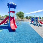 Reno Cascade, a family community, with playground. Has slides, monkey bars, and jungle gym.