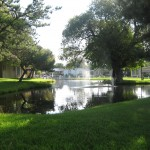 Southlake, filled with beautiful green and open landscape. Large tree-lined pond sits close to the community center, open for residents to enjoy and relax around.