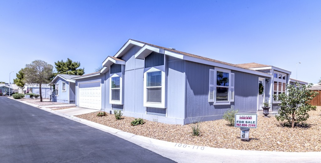Tropicana Palms, an active 55 plus manufactured home community has homes for sale. Home with attached garage on corner lot for sale.