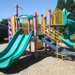 Playground with slides.