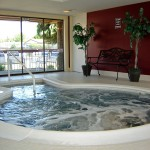 Indoor spa with bubbling water.