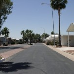 Clean paved streets throughout the community