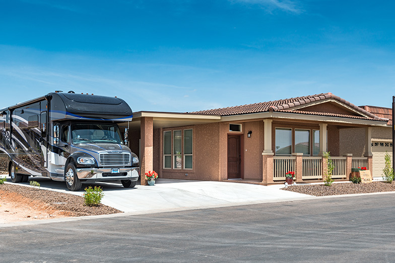 Montesa at Gold Canyon, an upscale 55+ community offers beautiful homes where some have space for a RV. Clean, wide, paved streets