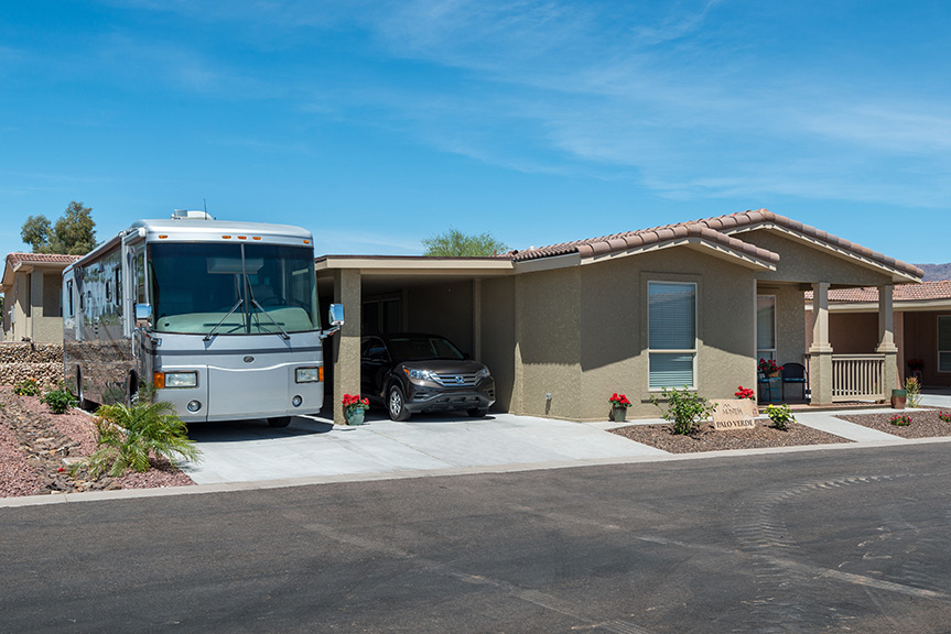 Beautiful home with a carport for a car and parking for a RV