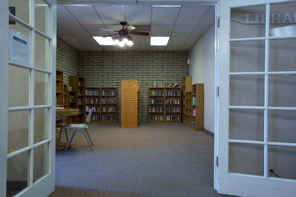 San Estrella, an All Age community in Phoenix, has small library for reading.