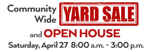 Tropicana Palms Community Wide Yard Sale and Open House - Saturday April 27, 2019 from 8:00 a.m. to 3:00 p.m.