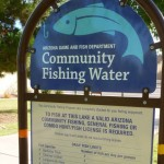 A lake next to Chaparral Village to fish at but requires valid Arizona fishing license is required