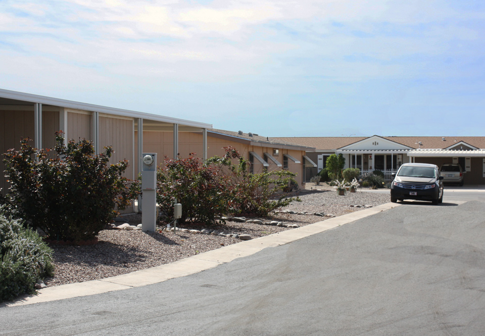 Manufactured homes have large lot sizes.