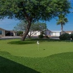 A clean 9 hole putting green at Cimarron Trails.
