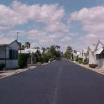 Rose Garden, a 55 plus manufactured home community with clean, wide, paved neighborhood streets.