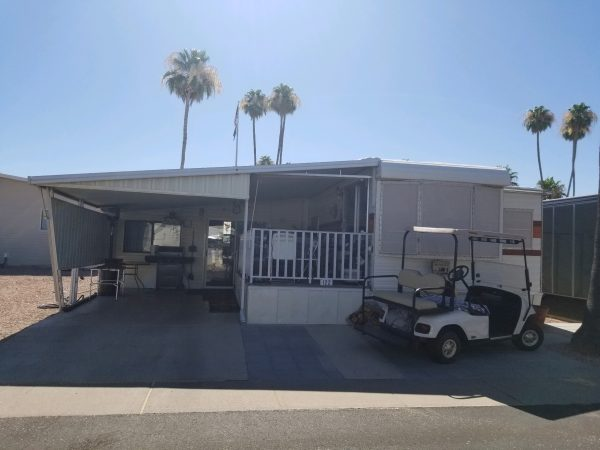 View 651-2210-113 1980 ELITE FULLY FURNISHED OPEN CONCEPT ARIZONA ROOM 1 1/2 BATH CENTRAL A/C AND HEAT RENT PAID TO SEPTEMBER 2019 VIN# 1S9RE2224DA047328