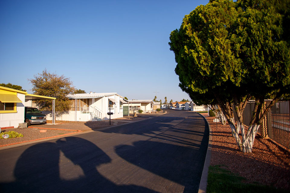 Wide, quiet and clean streets throughout the community