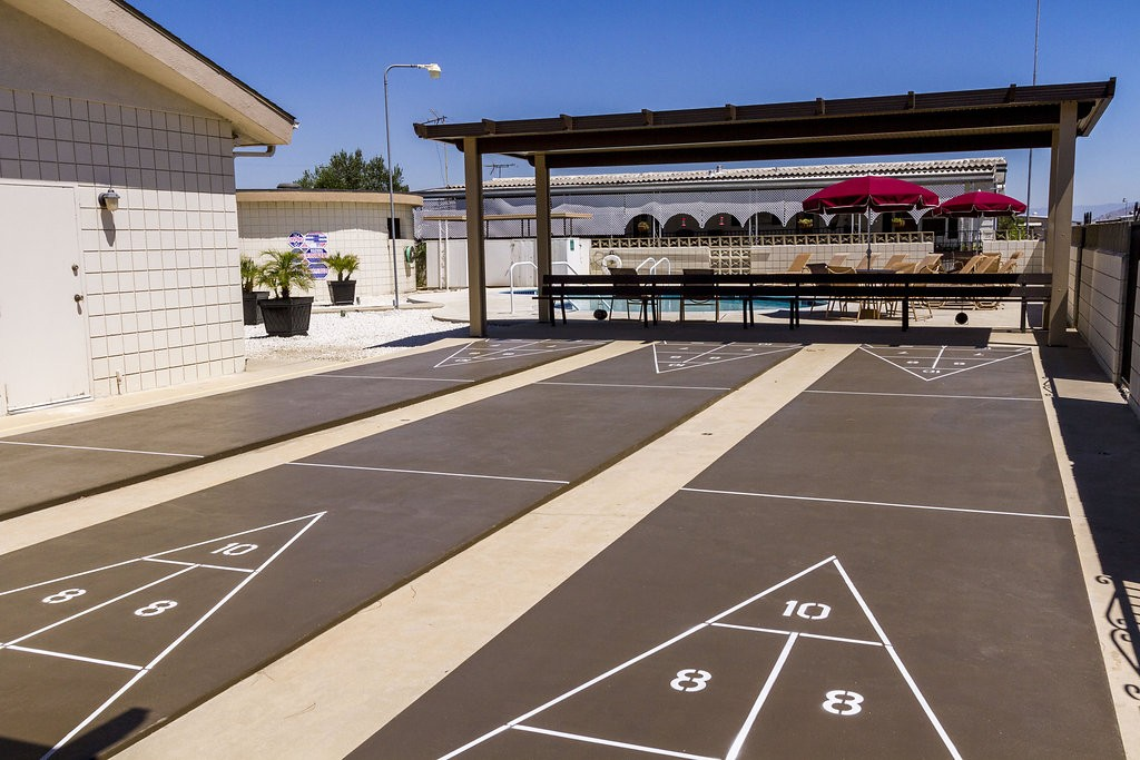 Enjoy a few games of shuffle putt golf, as well as a day at the adjoining pool with friends and family