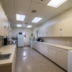 Large kitchen in the clubhouse with plenty of cabinet space, couple of fridges, freezer and oven.