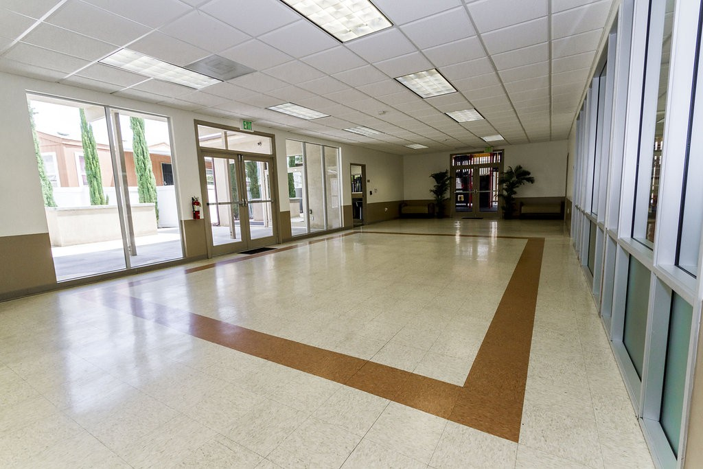 Open area within the community center provides a space for residents to host parties and get togethers with family and friends.
