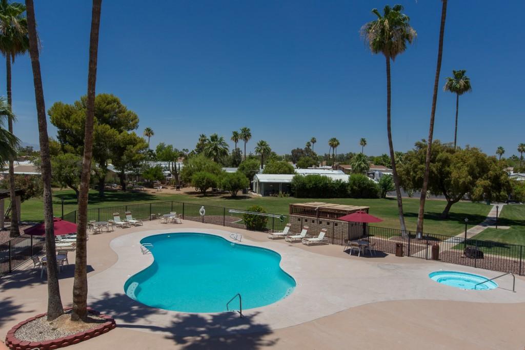Large Swimming pool at San Estrella, All Ages, family community in Phoenix, AZ