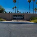 San Estrella Estates sign at the entrance