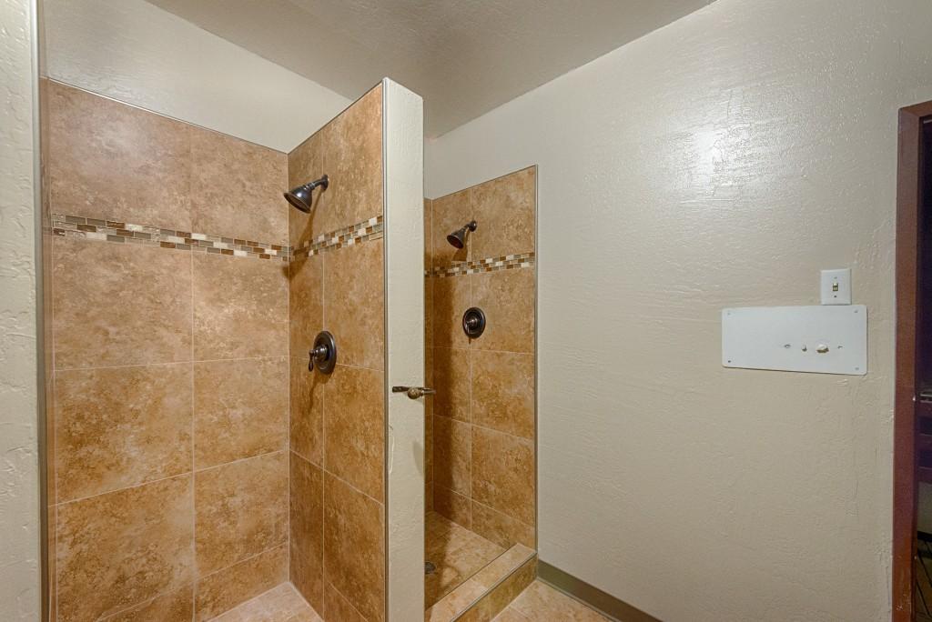 Locker room with showers.