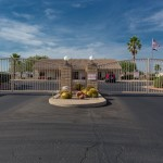 Sunny skies prevail at gated community of Cimarron Trails in San Tan Valley Arizona.