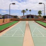 2 shuffleboard courts