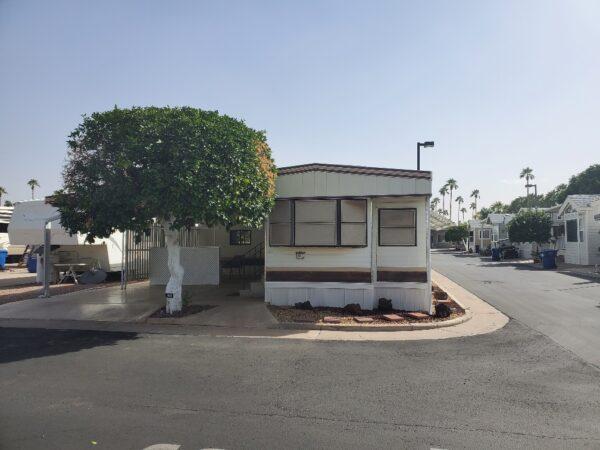 View 651-1030-120 – 1982 Mecca Park Model~ Pet Section~ Lot Rent Paid until August 2022 VIN#MM9T4S429BMMM9020~    ~SALE PENDING~
